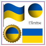 Ukraine graphic set Stock Photography
