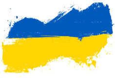 Ukraine grunge flag Royalty Free Stock Photo