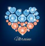 Ukraine-Herz Stockfotografie