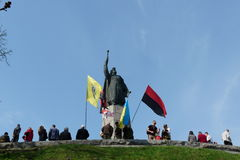 Ukraine. Holiday near the monument to Bogdan Khmelnitsky in Ukraine Stock Photos