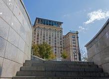 Ukraine hotell - ett av de populäraste hotellen i Kiev Royaltyfri Fotografi