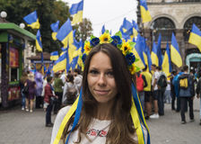 Ukraine - The Independence Day. Independence day in Ukraine, Kiev Royalty Free Stock Image