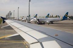 Ukraine International Airlines Image libre de droits