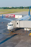 Ukraine International Airlines airplane in an airport Stock Photos