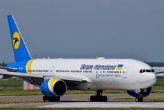 Ukraine International Airlines Boeing 777 Immagine Stock