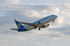 Ukraine International Airlines Boeing 737 Stock Photos