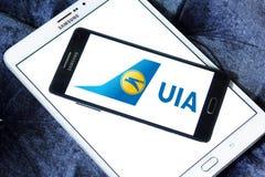 Ukraine International Airlines-embleem stock afbeeldingen