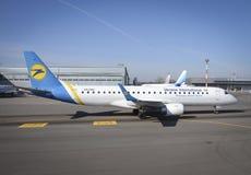 Ukraine International Airlines stock image