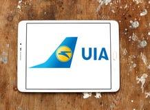 Ukraine International Airlines logo Fotografering för Bildbyråer