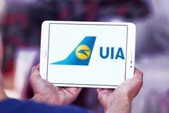 Ukraine International Airlines logo Royaltyfri Fotografi