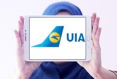 Ukraine International Airlines logo Royaltyfri Bild