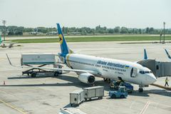 Ukraine International Airlines UIA Photographie stock libre de droits