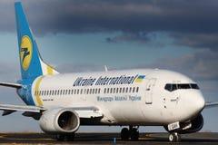 Ukraine International Airlines - UIA Arkivbilder