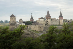 Ukraine, Kamyanets-Podilskyy, Medieval castle Royalty Free Stock Images