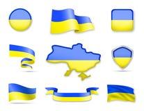 Ukraine kennzeichnet Sammlung Stock Abbildung