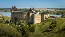Ukraine, Khotyn, Medieval Castle Royalty Free Stock Photography