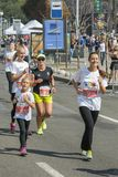 Ukraine, Kiev, Ukraine 09.09.2018 athletes and amateurs are running. People are engaged in running. Promotion of healthy stock image