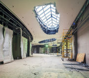 UKRAINE, KIEV. Boutique zone. Progress in the construction of shopping mall Republic Stock Photography