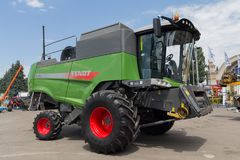 Ukraine, Kiev - June 11, 2017: Agricultural combine at the exhibition International agro-industrial exhibition Stock Image