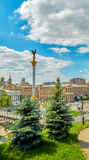 Ukraine Kiev Khreshchatyk and Maidan Nezalezhnosti. Ukraine Kiev Khreshchatyk and Maidan Nezalezhnosti Stock Image