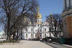 ukraine kiev kiev lavrapechersk Domkyrka av Dormitionen Royaltyfri Bild