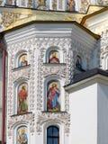 ukraine kiev kiev lavrapechersk Domkyrka av Dormitionen detaljer Royaltyfri Foto