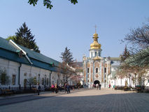 ukraine kiev kiev lavrapechersk Portkyrka Arkivfoton