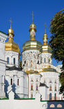 Ukraine. Kiev. Kievo-Pecherskaya lavra. Cathedral Royalty Free Stock Photos