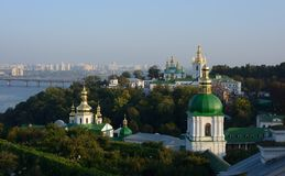Ukraine, kiev, Lavra, Dnepr. Ukraine, Kiev Lavra, panoramic view royalty free stock photography