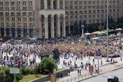 UKRAINE, KIEV - MAY 1. 2014: Famous Independence Square (Maidan Nezalelegnosti Stock Photo