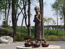 Ukraine. Kiev. Memorial to the victims of Holodomor Royalty Free Stock Photo