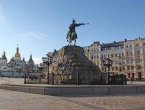 Ukraine. Kiev. The monument to Bogdan Khmelnitsky at the Sophia Square Stock Photos