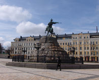 Ukraine. Kiev. The monument to Bogdan Khmelnitsky at the Sophia Square Royalty Free Stock Photos