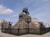 Ukraine. Kiev. The monument to Bogdan Khmelnitsky at the Sophia Square Stock Photo