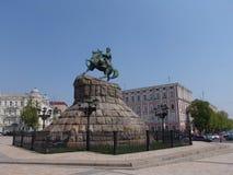 Ukraine. Kiev. The monument to Bogdan Khmelnitsky at the Sophia Square Royalty Free Stock Images