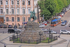 Ukraine. Kiev. The monument to Bogdan Khmelnitsky at the Sophia Square. Veiw to The monument to Bogdan Khmelnitsky at the Sophia Square in Kiev Royalty Free Stock Image