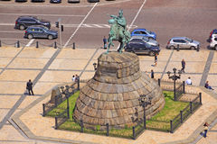 Ukraine. Kiev. The monument to Bogdan Khmelnitsky at the Sophia Square. Veiw to The monument to Bogdan Khmelnitsky at the Sophia Square in Kiev royalty free stock photography