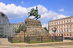Ukraine. Kiev. The monument to Bogdan Khmelnitsky at the Sophia Square. Veiw to The monument to Bogdan Khmelnitsky at the Sophia Square in Kiev royalty free stock photo