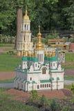 Ukraine. Kiev. Museum of Miniatures. St Andrew's Church Royalty Free Stock Photography