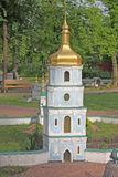 Ukraine. Kiev. Museum of Miniatures. St. Sophia monastery. Bell tower Royalty Free Stock Images