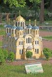 Ukraine. Kiev. Museum of Miniatures. St. Vladimir Church Stock Photography