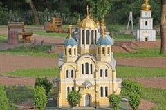 Ukraine. Kiev. Museum of Miniatures. St. Vladimir Church Royalty Free Stock Image