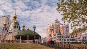 Ukraine. Kiev. Obolon. stock video