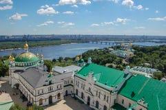 ukraine Kiev Pechersk Lavra is een algemene naam voor een volledig complex van kathedralen, klokketorens, kloosters, vestingwerkm royalty-vrije stock foto