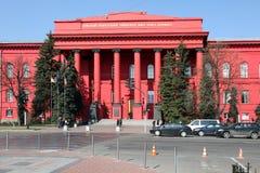 Ukraine. Kiev. Red University Building. The Red University Building is the principal and oldest 4-story campus of the Kiev University located at 60 Volodymyrska stock photos