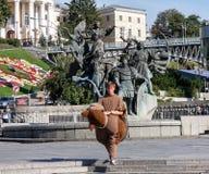 UKRAINE, KIEV - September 10,2013: Animator guy in a suit on a b Stock Photo