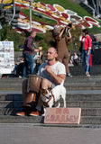 UKRAINE, KIEV - September 10,2013: The guy playing the djembe, c Royalty Free Stock Images