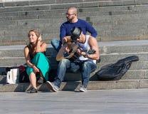 UKRAINE, KIEV - September 10,2013: Independence Square. Young mu Royalty Free Stock Image