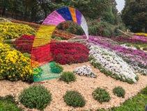 UKRAINE, KIEV: on Spivoche Pole, an exhibition of flowers Royalty Free Stock Photos