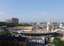 Ukraine. Kiev. Stadium under construction Stock Images